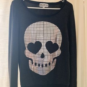 Wildfox Baggy Beach Jumper (Skull)